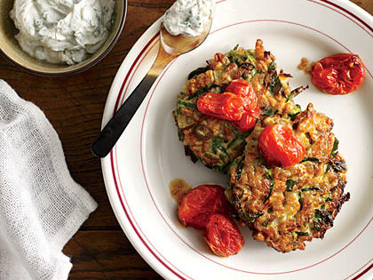 zucchini-farro-cakes-herbed-goat-cheese-slow-roasted-tomatoes-ck-x.jpg