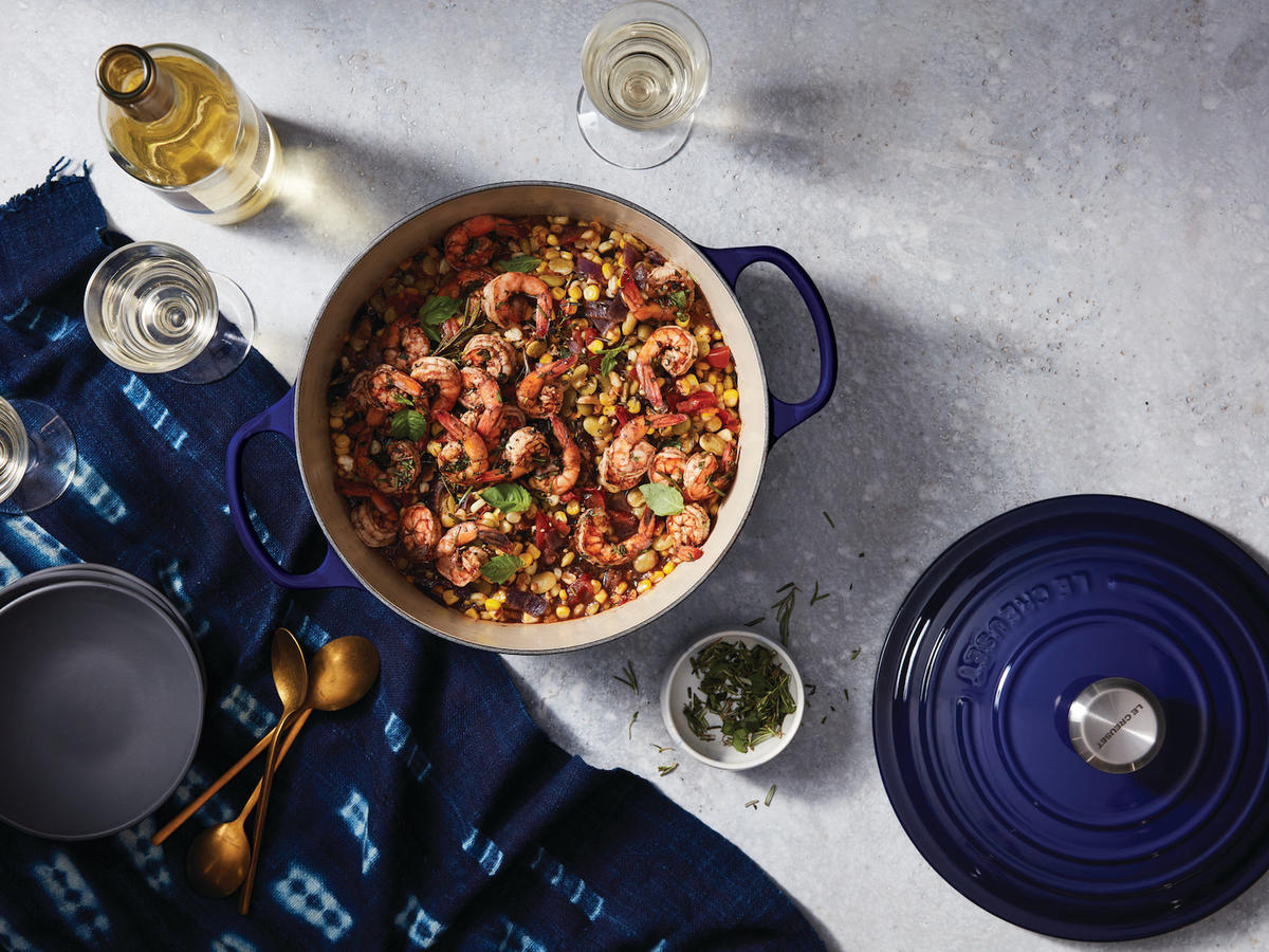 Le Creuset's Latest Mood? Indigo