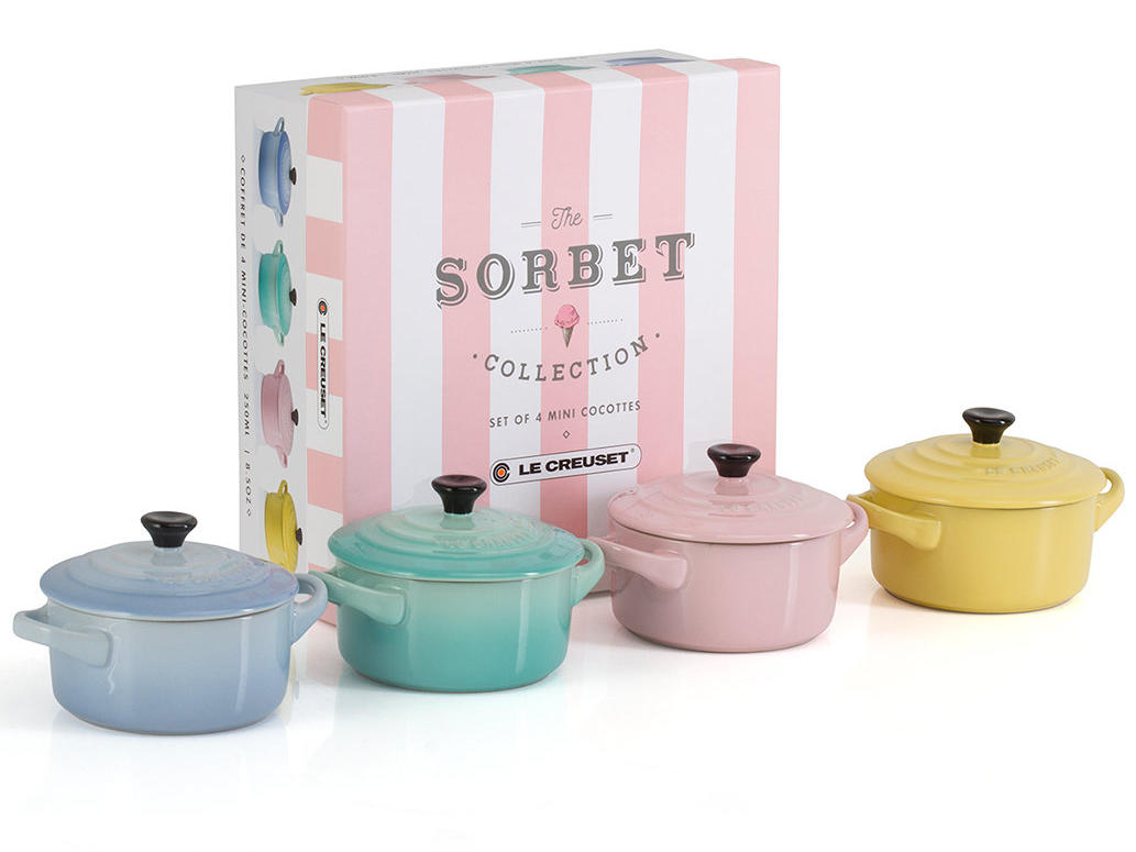Le Creuset's Sorbet Collection Is a Rainbow of Pastels