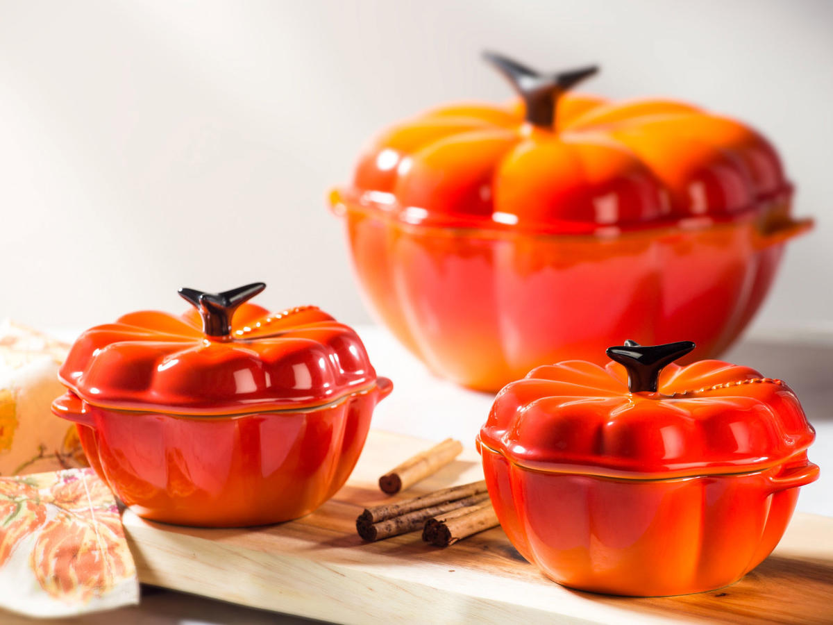 Le Creuset Just Launched the Cutest New Line of Pumpkin-Theme Cookware—Starting at Only $15