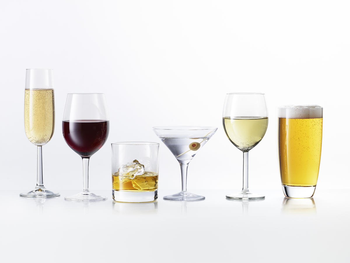 Different types of alcoholic drinks