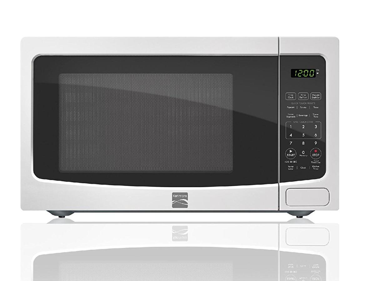 Kenmore White 1.1 cu. ft. Countertop Microwave