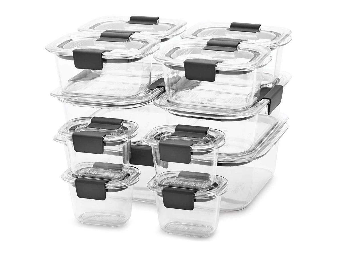 Rubbermaid Brilliance Food Storage Container Set