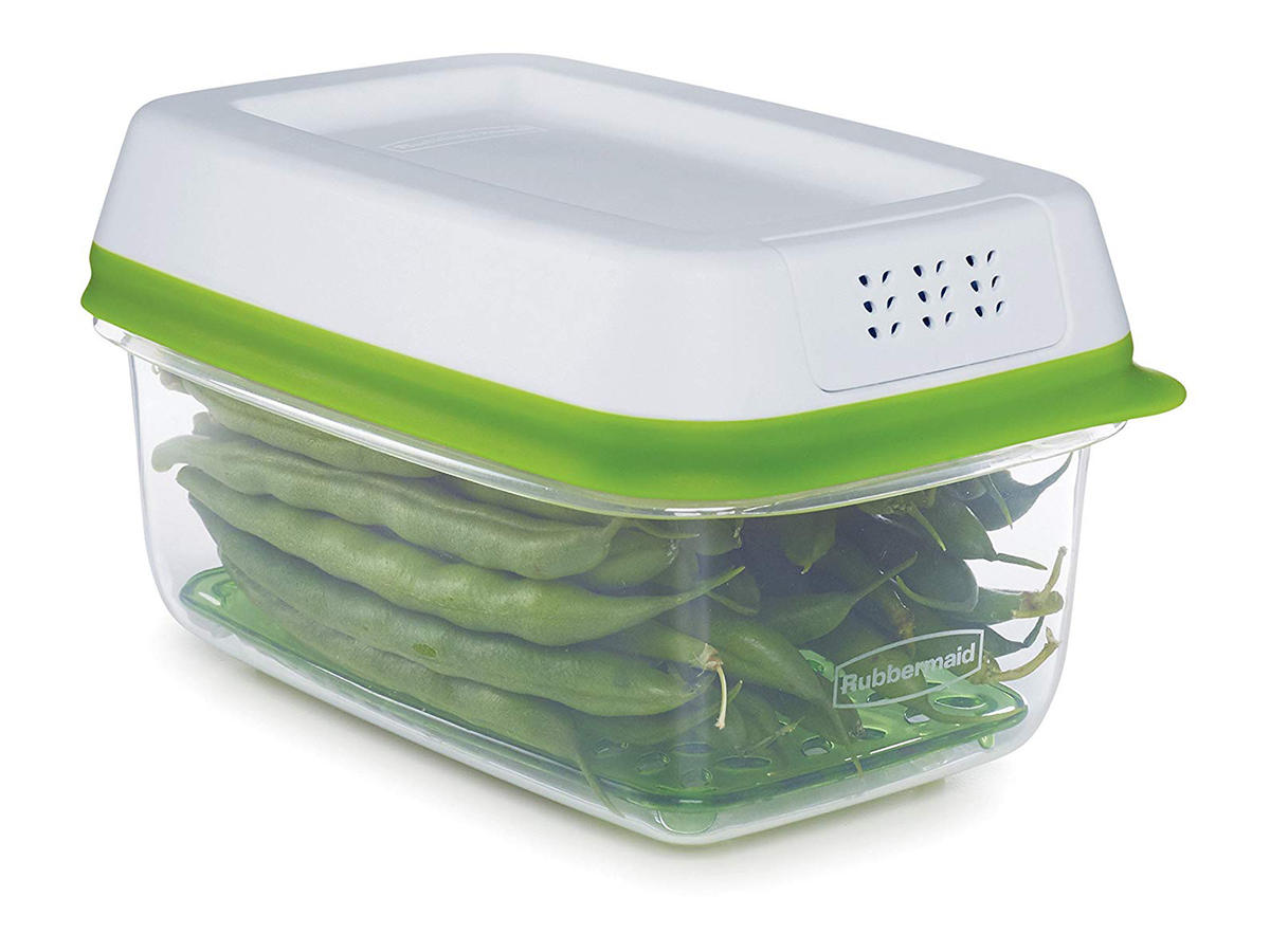 Rubbermaid FreshWorks Produce Saver Small Rectangle, 4-Cup Container