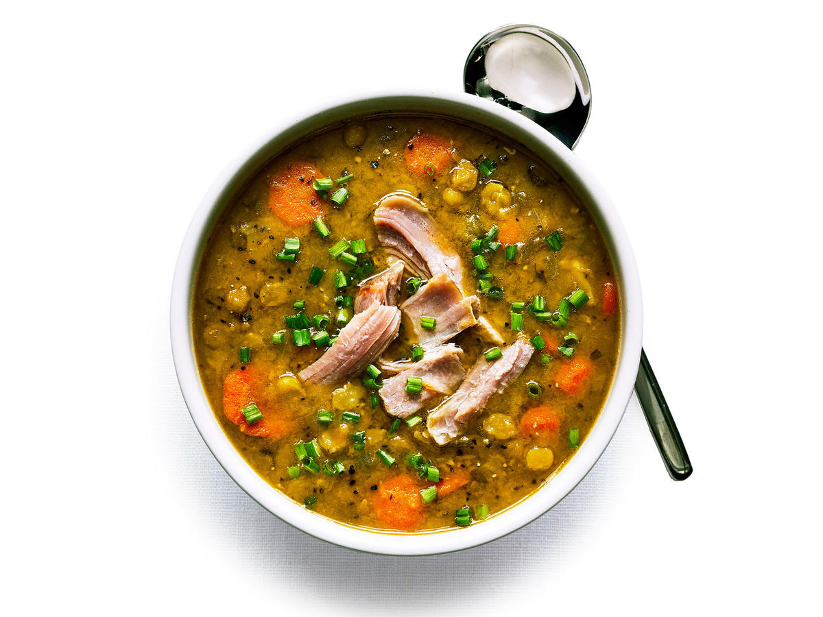 Slow-Cooker Split Pea Soup with Smoked Turkey