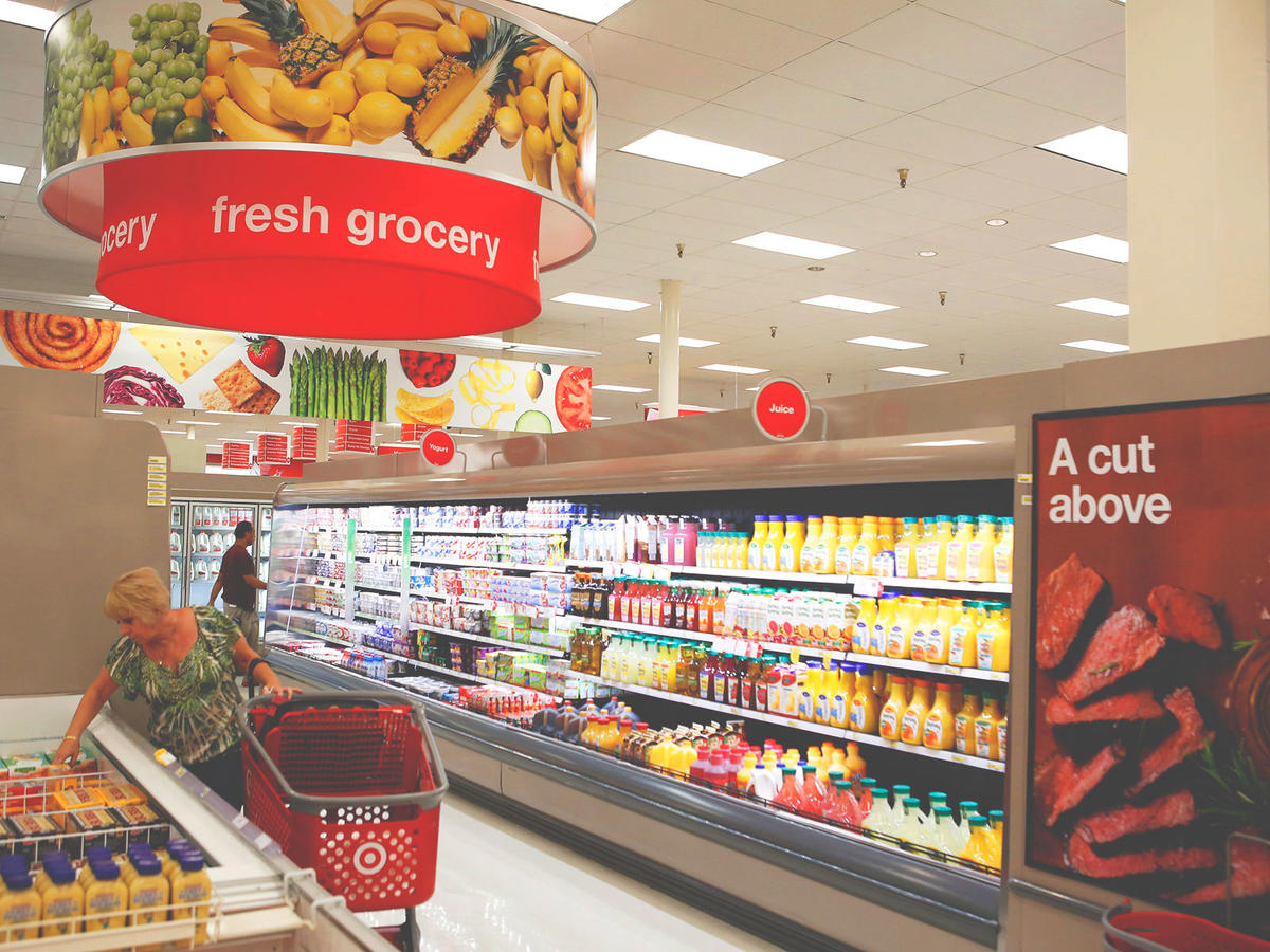 target grocery section