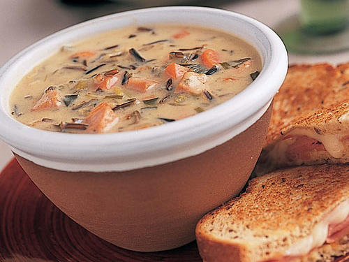 This top-rated smoked turkey soup is perfect paired with a hot grilled cheese sandwich or hearty panini.