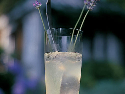 Lavender adds a delightfully different dimension to this refreshing summer favorite. Garnishing with lavender stems makes for a pretty presenation.