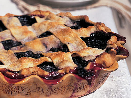 Lattice-Topped Blueberry Pie Recipe