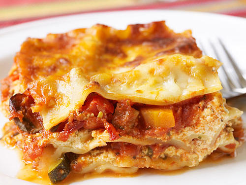 This vegetable lasagna is perfect for making ahead and can easily transport to a potluck or the freezer.