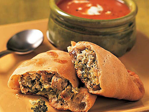 Breakfast for Dinner: Broccoli-Sausage Calzones Recipe