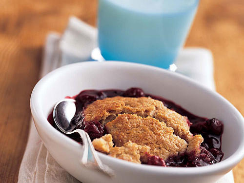 Whole Wheat Flour Mixed-Fruit Cobbler