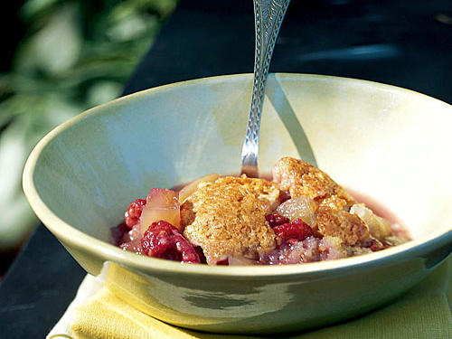 Green-Tomato-and-Raspberry Cobbler Recipe