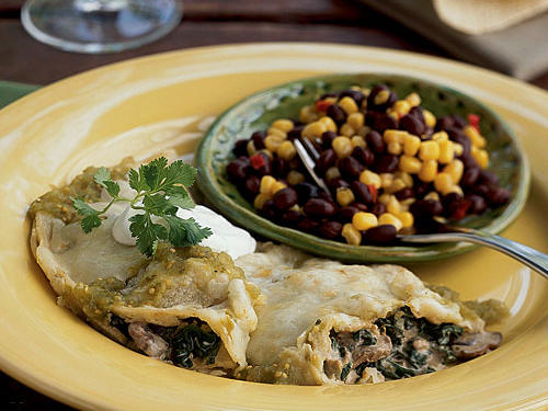 This vegetable enchilada dish is perfect for Meatless Mondays and provides a unique way to incorporate more vegetables into your healthy diet.