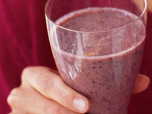 Frozen mixed berries and dry milk help keep cost and preparation to a minimum for this anytime smoothie. Blend with banana, yogurt, sugar, and orange juice for a citrus accent. Substitute other frozen fruits, like peaches, for fun variety.