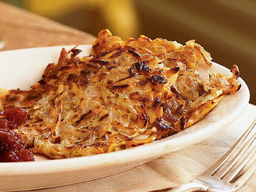 These latkes are decidedly different with the addition of parsnips and sweet potatoes, which bring an added crispness and hint of sweetness. Serve with fresh cranberry sauce for a tangy topping that is just right for the holiday season.