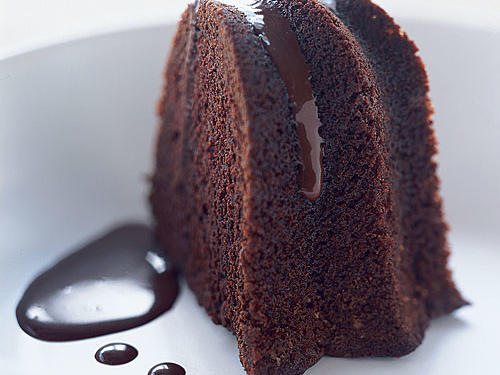 Chocolate Bundt Cake Drizzled with Rich Chocolate Sauce