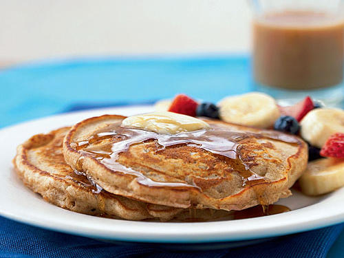 No more dry, dense whole wheat pancakes. In fact, many of our online reviewers have called these fluffy, flavorful pancakes the best they've ever tasted. Keep cooked pancakes warm in a 200º oven while preparing remaining pancakes, then serve them with heated maple syrup.