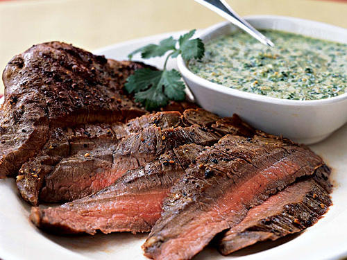 Ground almonds thicken this lively herb sauce. The pesto is also good as a spread for burgers and sandwiches, or as a pizza sauce. Most of the fat here is monounsaturated.
