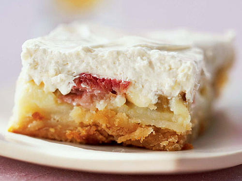 Rhubarb Custard Bars recipe