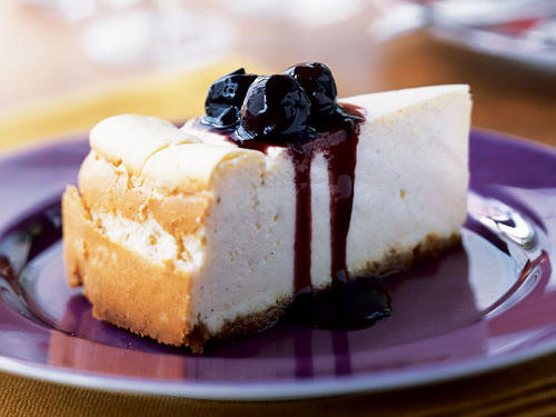 Vanilla Cheesecake with Cherry Topping Recipe