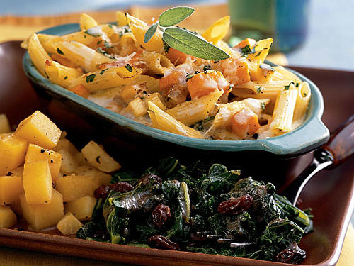 This meatless dish combines sweet butternut squash and nutty parsnips into one warming, spicy, and satisfying meal. It's homey enough to serve on weeknights and festive enough to serve to a crowd.