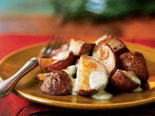 Top-Rated Vegetable Recipe: Roasted Potatoes with Tangy Watercress Sauce