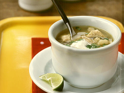 "This Mexican soup was rated 5 stars because it's quick and packed with flavor. One reader called this Posole recipe ""a Mexican chicken noodle soup."""
