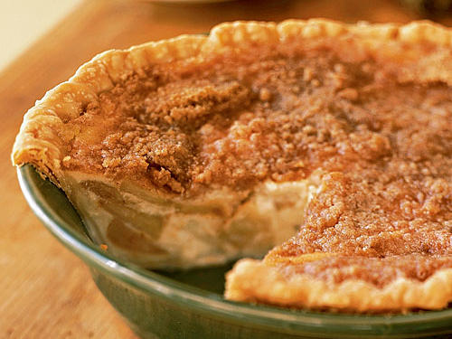 Warm Apple-Buttermilk Custard Pie Recipe