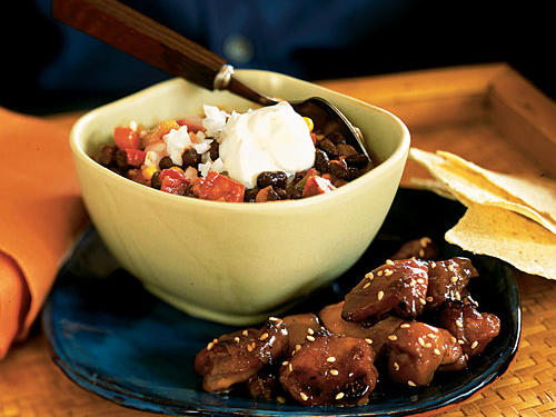 This black bean chili recipe gets a kick from chorizo sausage and smoky chipotle chiles. Our dish will pack the flavor and we guarantee your taste buds will be ever grateful.