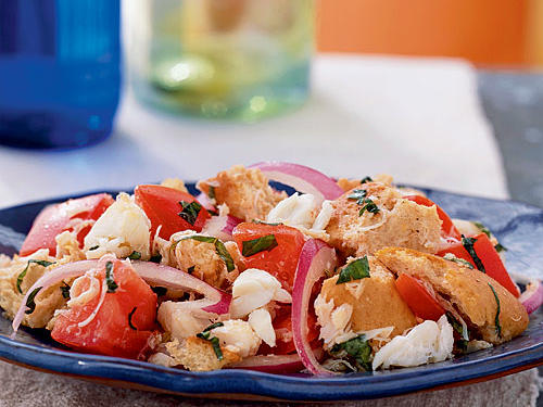 Panzanella with Crab