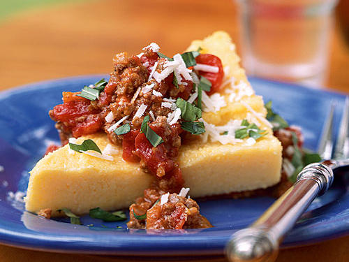 Polenta with Bolognese Sauce REcipe