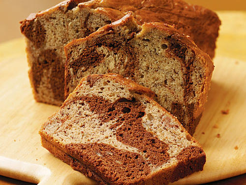 Melted chocolate chips add an elegant (and tasty) swirl to this gorgeous bread, making it a perfect treat for your Valentine.
