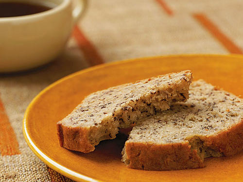 We love this bread's moist texture and simple flavor. Banana bread should form a crack down the center as it bakes—a sign the baking soda is doing its job.