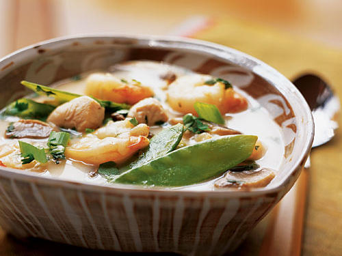 Healthy Thai Shrimp and Chicken Soup Recipe