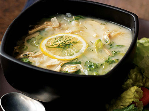 This is a variation of the classic Greek soup magiritsa, which is typically made from lamb, chicken broth, egg, and lemon, and is served to end the Lenten fast. Here, it's transformed into a fine fall dish using turkey leftovers.