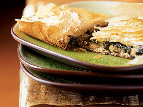 If you like the crispy individual phyllo-dough pastries of classic spanakopita, you'll love this quick-and-easy casserole version. Another interesting twist: Swiss chard in place of spinach.