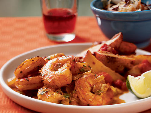 Shellfish might not leap to mind as typical Mexican cuisine, but this simple preparation with spice, garlic, and lime is an ideal way to highlight shrimp as well as scallops, clams, mussels, or even lobster. Serve as is, with roasted potatoes, over rice, or inside tacos.