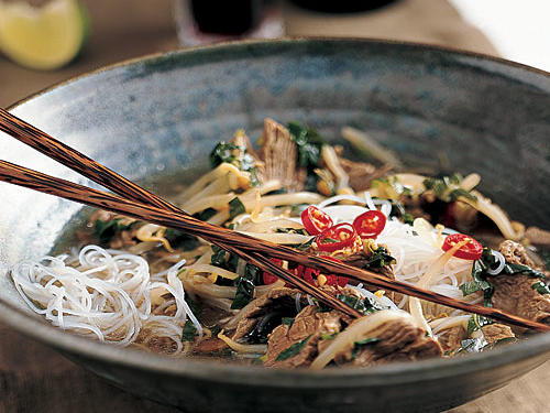 Healthy Vietnamese Beef-Noodle Bowl Recipe