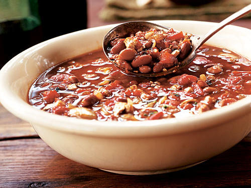 Healthy Mixed-Bean Chili with Tofu Recipe