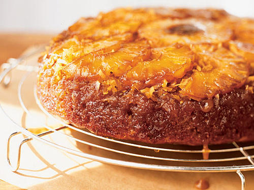 Upside-down cakes are classically made in a cast-iron skillet because it gives the cake a crisp edge, cooks evenly, and keeps it moist.