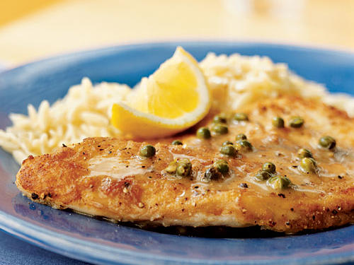 Sauteed Tilapia with Lemon-Peppercorn Pan Sauce