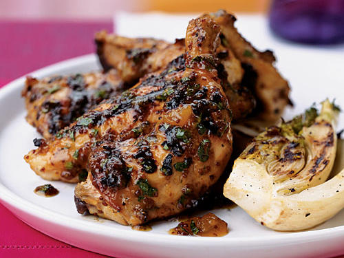 Grilled Cornish Hens with Apricot-Mustard Glaze Recipes