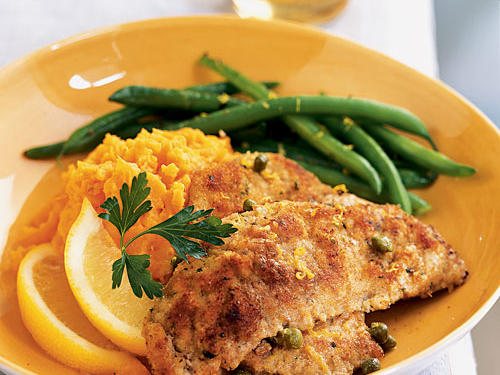 Veal may be less popular today than in the past, but its delicate texture and subtly sweet flavor are perfect for this classic Italian preparation. Breaded and pan-fried for a crisp crust, then served with a piquant lemon-caper sauce, these veal cutlets make an easy-to-prepare meal sophisticated.