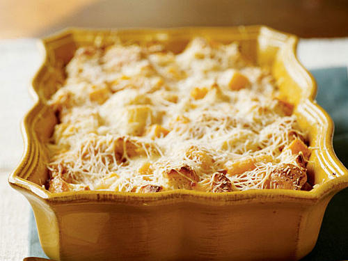 Butternut Squash and Parmesan Bread Pudding Vegetarian Recipe