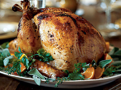 This turkey is a pleasure to offer on your table. It's incredibly moist and flavorful, and it received our highest Test Kitchens rating. Brining is an overnight process, so if you're using a frozen turkey, be sure to thaw it well in advance. Choose turkey-sized plastic oven bags for brining the turkey. Use two bags to prevent brine from leaking, and place the turkey in a large stockpot as another precaution.