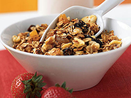Are you hungry after your morning bowl of cereal? Try adding some healthy fat to your meal for satiety. Top your cereal with 2 tablespoons of nuts or seeds.