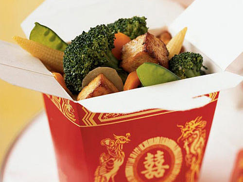 Buddha's Delight with Tofu, Broccoli, and Water Chestnuts