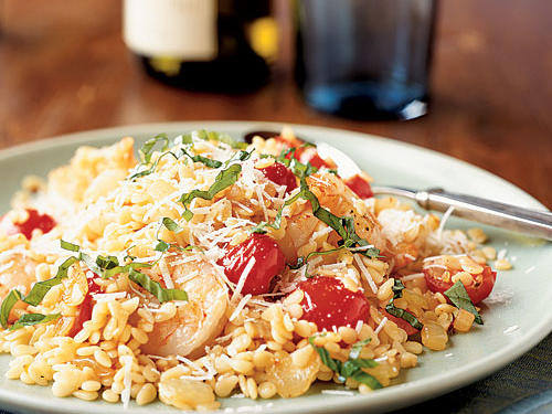 Cheese and seafood are not normally combined, but rules are made to be broken: The salty Romano elevates this recipe with its complex flavor. The simple preparation creates big taste from ingredients you're likely to have on hand anytime. Don't forget the fresh basil at the end; it's an indispensable addition.