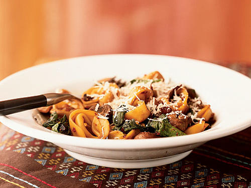 100 Pasta Recipes: Fresh Tortellini with Mushrooms and Pancetta